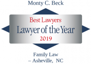 Best Lawyers in America names Monty Beck Asheville's Family Law Lawyer of the Year